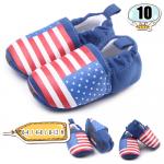 รองเท้าเด็กอ่อน ลายธงชาติ สีน้ำเงิน - Blue national flag