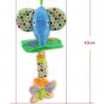 ตุ๊กตาโมบายผ้าเสริมพัฒนาการ รูปช้าง - HappyMonkey