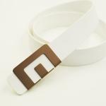 เข็มขัด MIN Belt หัวทองแดง - สายสีขาว