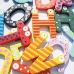 ของเล่นไม้ ตัวอักษรแม่เหล็ก A-Z ลวดลายสีสันน่ารักสดใส จำนวน 26 ตัว