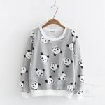 พร้อมส่ง เสื้อยืดแขนยาวลายหมีแพนด้า เนื้อผ้าดีใส่สบาย แบบน่ารักๆค่ะ code : a0040