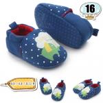 รองเท้าเด็กอ่อน ลายเช้าง สีน้ำเงิน - Sapphire Elephant