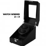 กล่องหมุนนาฬิกา AUTOMATIC WATCH WINDER BLACK กล่องใส่นาฬิกา 2 x 3 เรือน