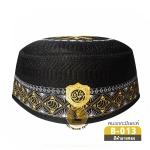 CHAREEF B-013 หมวกกะปิเยาะห์สีดำลายทอง