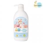 Lamoon น้ำยาล้างขวดนมออร์แกนิค หัวปั๊ม ขนาด 500 มล. Organic Nipple & Bottle Cleanser
