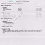 COA Peppermint oil และเอกสารประกอบ