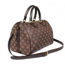 กระเป๋าเก็บเงิน 'พูล เพิ่ม ทรัพย์' แบบถือและสะพายซับในน้ำตาล