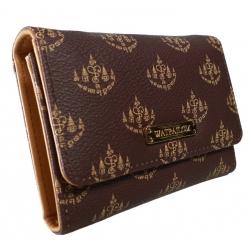 กระเป๋าใส่เงิน 'พูล เพิ่ม ทรัพย์' แบบสามพับสั้นมีซิปด้านหลัง
