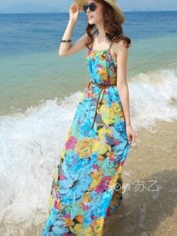 MAXI DRESS ชุดเดรสยาว พร้อมส่ง สีโทนฟ้า ผ้าชีฟอง เนื้อนิ่ม ใส่สบาย พิมพ์ลายดอกไม้สวยมากๆค่ะ มีซับใน รับรองสินค้าจริงเหมือนแบบ 100 %