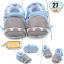 รองเท้าเด็กอ่อน ลายฉลาม สีฟ้า - Blue shark