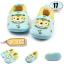 รองเท้าเด็กอ่อน ลายลิงใส่แว่น สีเขียว-เหลือง Light blue glasses monkey