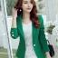 เสื้อสูทผู้หญิงสีเขียวใส่ทำงาน สไตล์เรียบหรู 5 size S/M/L/XL/XXL รหัส CB-1723 หมวดหมู่ เสื้อสูทผู้หญิง