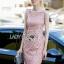 Dress เดรสแขนกุดผ้าลูกไม้สีชมพูอ่อนสุดหวานสไตล์เฟมินีน .