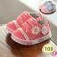 รองเท้าเด็กอ่อน รองเท้าเด็กหัดเดิน รองเท้าผ้าใบ สีชมพู - Pink flower 109