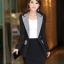 เสื้อสูทผู้หญิงแฟชั่นสีดำแต่งปกสีเทาใส่ทำงานสวยหรู 4 ไซส์ M /L /XL /2XL รหัส CB-1836 หมวดหมู่ เสื้อสูทผู้หญิง