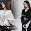 เสื้อเกาหลี+เข็มขัด🎉 ผ้าไหมวิ้งเกาหลีเนื้อดี ผ้าเกาหลีแท้เนื้อดี เนื้อผ้ามี glitter