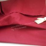 ผ้าพื้นคอตตอน~ สีแดงเลือดหมู หนาปกติหาจากตลาดในไทย1/2 m