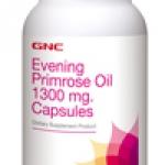 GNC Evening Primrose Oil 1300mg จีเอ็นซี น้ำมันอีฟนิ่งพริมโรส 1300มก.