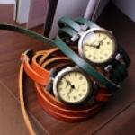 นาฬิกาหนังแท้ พันข้อมือ 3 รอบ (พร้อมส่ง)