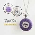 นาฬิกาแบบสร้อยคอแฟชั่น Hispter เก๋ๆสำหรับสาวๆ ระบบถ่านควอทซ์ญีปุ่น ดีไซต์ Crystal Eyes