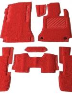 พรมดักฝุ่นไวนิล BENZ E-CLASS W207 รุ่น VINYL MAT รีดขอบ สีแดง