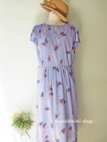 เดรสวินเทจลายดอกไม้สีม่วงสด Bright Violet Summer Flower Very Vintage Dress