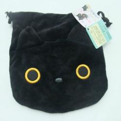 ถุงผ้าหูรูด ลายแมวดำ Kutsushita