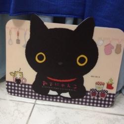 แผ่นรองเมาส์ ลาย แมวดำ Kutsushita