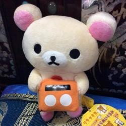ตุ๊กตาหมี โคะริลัคคุมะ ถือวิทยุ san-x ขนาด 7 นิ้ว