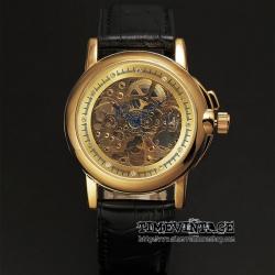 นาฬิกาข้อมือกลไกผู้หญิง Model Gold Collection ประดับคริสตัล (พร้อมส่ง)