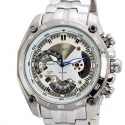 นาฬิกาข้อมือชายสไตล์ Military Sport หน้าปัดสีขาว พร้อมระบบวันที่และMoon Phase (สั่งทำ)