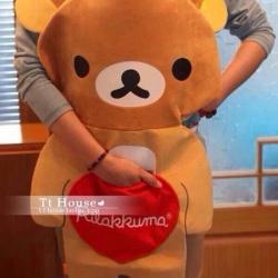 ผ้ากันเปื้อน ลายหมี ริลัคคุมะ Rilakkuma