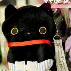 กระเป๋าใส่โทรศัพท์ ลายแมวดำ Kutsushita