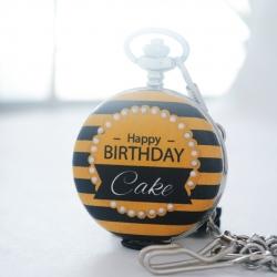 ของขวัญสุดเก๋นาฬิกา LOCKET ประดับคริสตัสอักษรย่อ ดีไซต์ Black Bee (สั่งทำ)