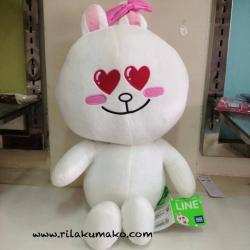 ตุ๊กตาไลน์ กระต่าย โคนี่ ตาหัวใจ