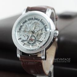 นาฬิกาข้อมือกลไก Matte Silver Case Collection