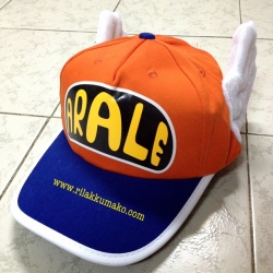 หมวก อาราเล่ มีปีก สีส้ม