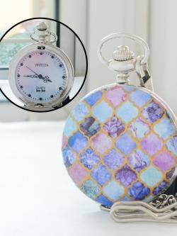 นาฬิกาพกขนาด 4.7ซม. ระบบถ่านควอทซ์ญี่ปุ่น ลาย Sweet Princess (สั่งทำ)