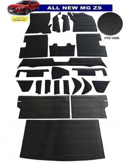 พรมกระดุมเม็ดเล็ก MG ZS สีดำ(เต็มคัน)+แผ่นปูท้าย + ปิดเบาะหลัง ตัดเข้ารูป100% สวยงาม ทนทานที่สุด