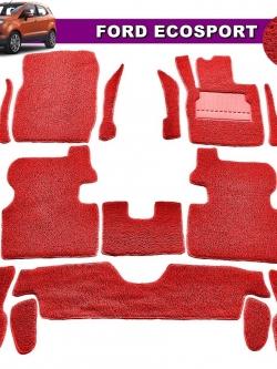 พรมดักฝุ่นไวนิล FORD ECOSPORTรุ่น VINYL MAT สีแดง (เต็มคัน) สวยงาม เข้ารูป100%