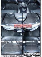 พรมปูพื้นรถยนต์ NEW X-TRAIL HYBRID ลายกระดุมสีดำ ชิ้น Full option เข้ารูป100%
