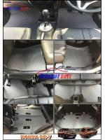 พรมปูพื้นรถยนต์ HONDA BR-V ลายกระดุม สีเทา เต็มคัน 17 ชิ้น เข้ารูป 100%
