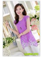 พรีออเดอร์ เสื้อผ้าชีฟอง สีม่วง มีไซด์ M/L/XL/XXL/XXXL