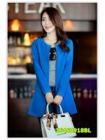พรีออเดอร์ เสื้อโค้ท สีน้ำเงิน มีไซด์ M/L/XL/XXL
