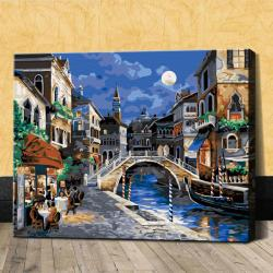 "TG304 ภาพระบายสีตามตัวเลข ""จันทร์เต็มดวงในเวนิส"""