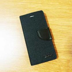 เคสไอโฟน 7/7S แบบฝาพับ สีดำ