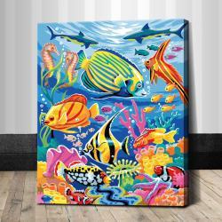 "TG022 ภาพระบายสีตามตัวเลข ""ปลาทะเลสีสดใส"""