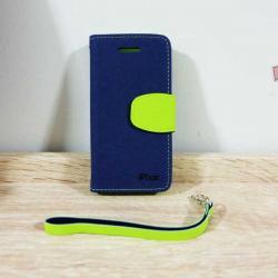 เคสไอโฟน 5/5S แบบฝาพับ สีกรม