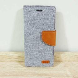 เคสไอโฟน 7/7S แบบฝาพับ สีเทา