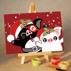 """TA149 ภาพระบายสีตามตัวเลข """"ซานต้าอู๊ดอู๊ด"""""""